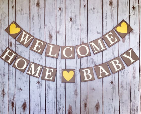 cute welcome home baby sign