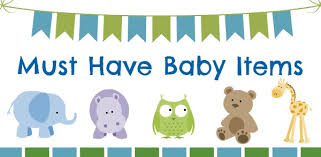cute must have baby items sign with animals