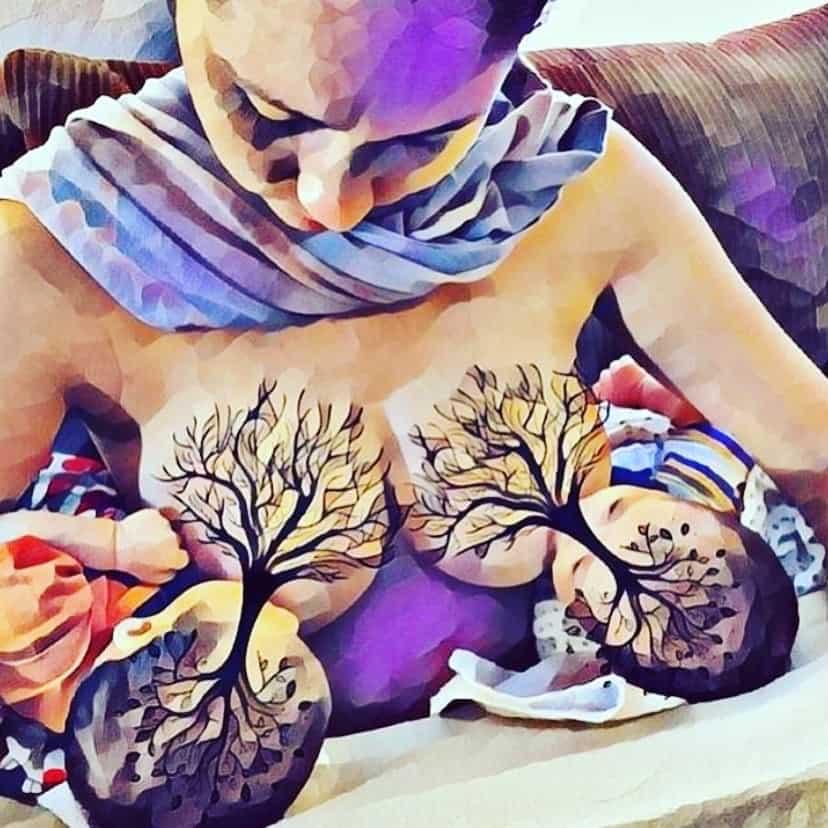 newborn breastfeeding tree of life